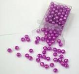 Korálky perličky - cyklámen 8mm - 144ks