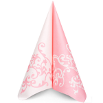 Ubrousek 40x40 cm Airlaid Duo růžovo-bílý - 1ks