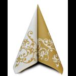 Ubrousek 40x40 cm Airlaid Duo zlato-bílý - 1ks