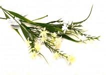 Zápich - jarní květina bílá přízdoba