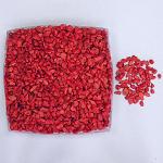 Dekorační drť červená