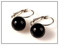 Náušnice - perla černá 10mm
