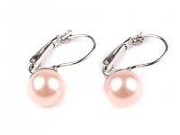 Náušnice - perla pudrově růžová 10 mm