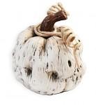 Dýně keramika bílá - baculatá 10 cm