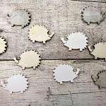 Dřevění ježci - bílo-hnědý mix - 10 ks