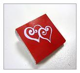 Čokoládka svatební mini - srdíčka červená