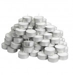 Čajová svíčka - bílá malá - 1ks