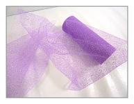 Tyl dekorační s lurexem - sv.fialový