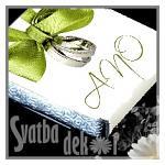 Čokoládka svatební mini - ANO s prstýnky ZELENÁ
