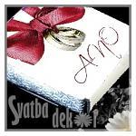 Čokoládka svatební mini - ANO s prstýnky ČERVENÁ