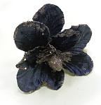 Květ magnolie sametový glitter - pudrově růžový