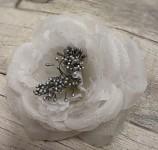 Hlavička růže snow - bílá