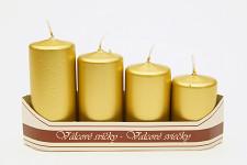 Adventní svíce - postupné - zlaté