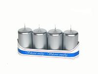 Adventní svíce - stříbrné metal.