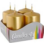 Adventní svíce - zlaté metalické - malé
