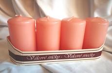Adventní svíce - růženín malé