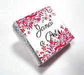 Čokoládka svatební mini - ORNAMENT 5 - červená