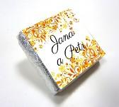 Čokoládka svatební mini - ORNAMENT 5 - oranžovo-žlutá