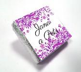 Čokoládka svatební mini - ORNAMENT 5 - fialová