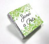 Čokoládka svatební mini - ORNAMENT 5 - zelená