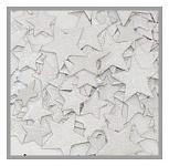 Hvězdičky ploché mix velikostí - bílé glitter 8ks