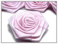 Saténový květ růže - sv.růžový