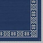 Ubrousek 40x40 cm - Dunilin winter tm.modrý - 1ks