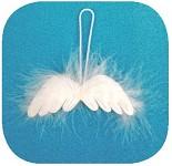Andělská křídla - mini - závěs 8cm
