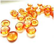 Dekorační kapky rosy - oranžové
