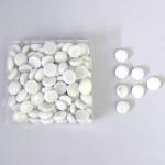Skleněné kamínky bílé perleťové
