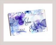 Čokoládka svatební tabulka - fialky