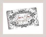 Čokoládka svatební tabulka - ornament 6 - černá