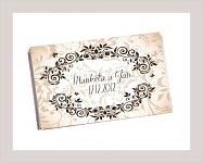 Čokoládka svatební tabulka - ornament 6 - hnědá