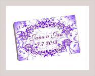 Čokoládka svatební tabulka - ornament 6 - fialová