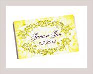 Čokoládka svatební tabulka - ornament 6 - žlutá