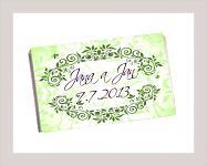 Čokoládka svatební tabulka - ornament 6 - zelená
