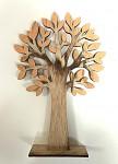 Stromeček dřevěný 18 cm - žlutý