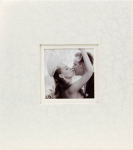 Svatební fotoalbum na fotolepky - bílé mramorované