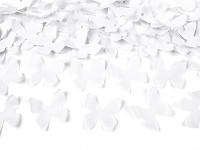 Vystřelovací konfety - bílí motýlci - 60 cm