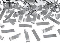 Vystřelovací konfety - stříbrné - 60 cm