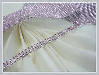 Diamantový pás - 1cm/1m - sv.růžový