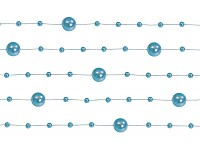 Perličky na silikonu - modrošedé malé - 5ks