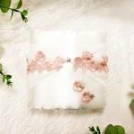 Polštářek pod prstýnky - krajková aplikace pudrově růžová