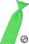 Kravata chlapecká - zelená s puntíky