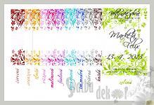 Etikety na svatební víno 0,7l - orn.5 - více barev