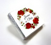 Čokoládka svatební mini - ORNAMENT 5 - růžová