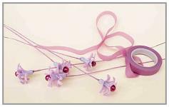 Ovinovací  páska na stonky květin - fialová