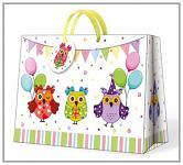 Dárková taška - narozeninové sovičky