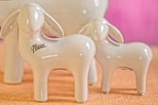 Ovečka porcelánová bílá - malá
