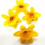 Květ narcisu 4 cm - žlutý - 1 ks